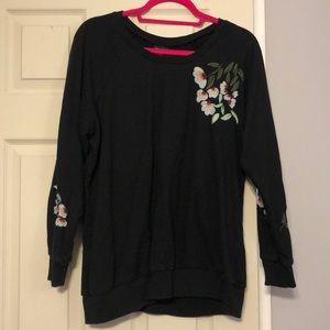 Torrid floral embroidered sweatshirt